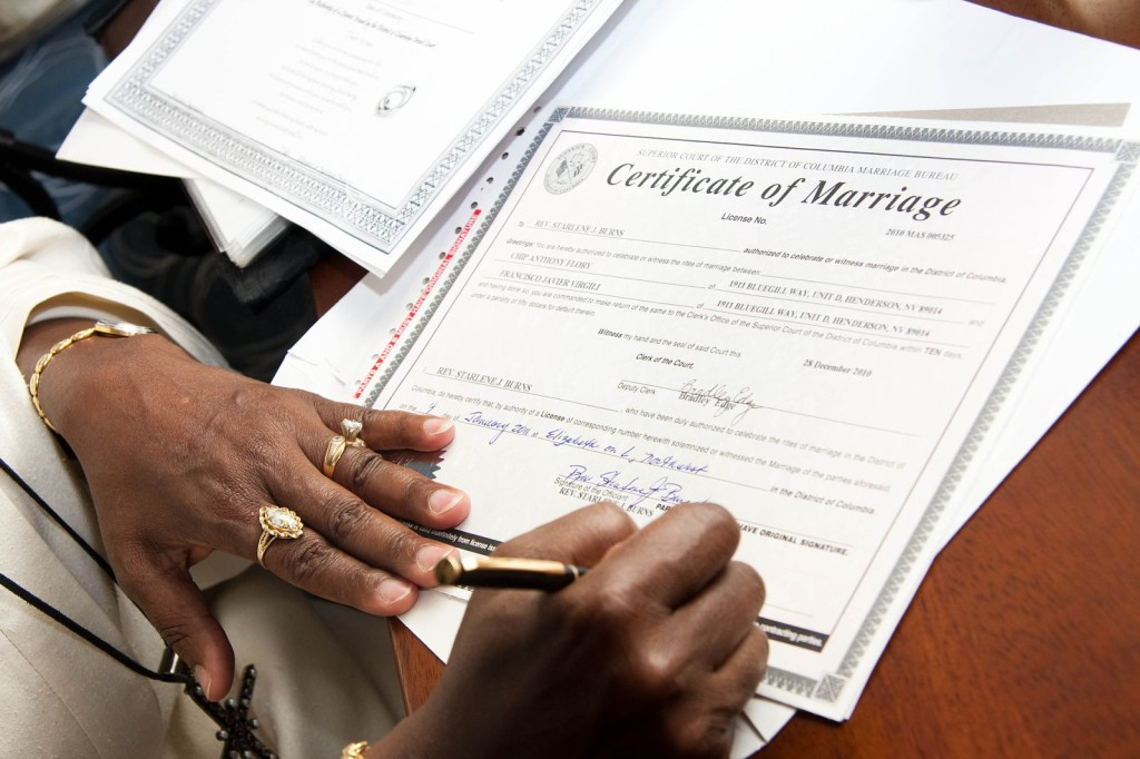 dc marriage license