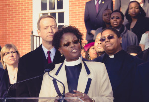 rev burns speaking on same sex marriage rights in Annapolis MD 2012.